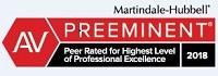 MartinDale Hubble AV Preeminent Peer Related for Highest Level of Professional Excellence 2018 Badge